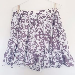 GAP Purple Floral Skirt
